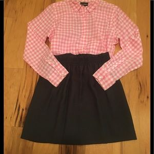 J Crew Charcoal Gray Crinkle City Mini Skirt